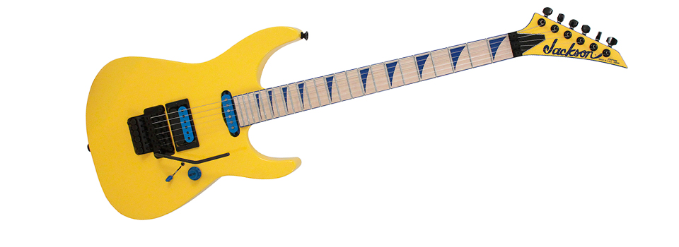 Jackson Custom Shop SLHS Soloist Custom Yellow and Blue