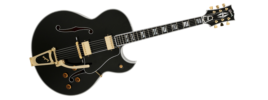 Gibson Custom Shop Super 400 Lamp Black Florentine with Bigsby