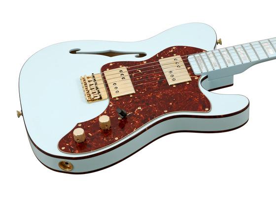 fender electric guitar custom shop 72 telecaster thinline sonic blue masterbuilt rainbow guitars. Black Bedroom Furniture Sets. Home Design Ideas