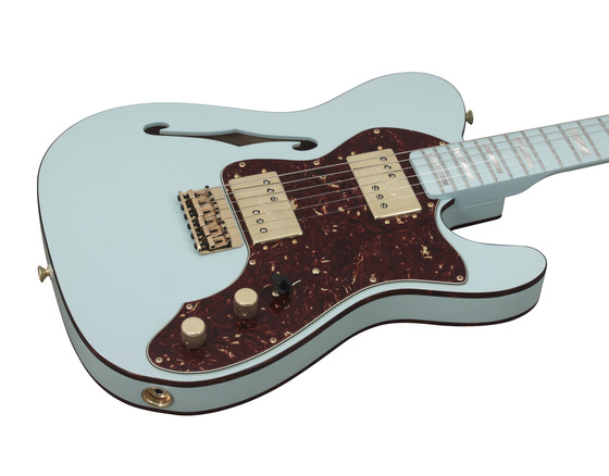 fender custom shop 72 telecaster thinline sonic blue masterbuilt rainbow guitars. Black Bedroom Furniture Sets. Home Design Ideas