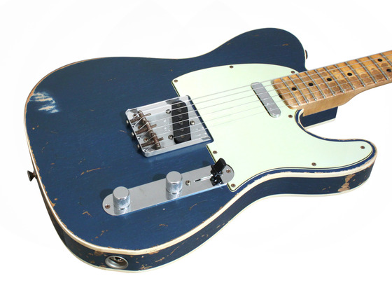 fender custom shop 1963 telecaster custom heavy relic lake placid blue rainbow guitars. Black Bedroom Furniture Sets. Home Design Ideas