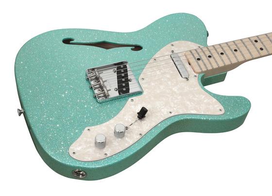 fender custom shop 1969 telecaster thinline seafoam green sparkle rainbow guitars. Black Bedroom Furniture Sets. Home Design Ideas
