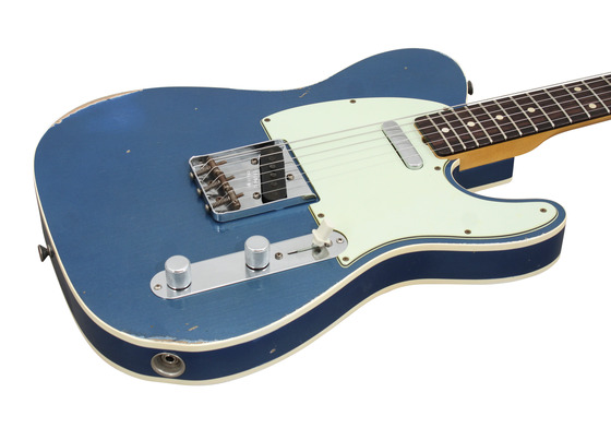 fender custom shop 1960 telecaster custom relic aged lake placid blue rainbow guitars. Black Bedroom Furniture Sets. Home Design Ideas