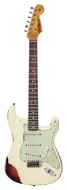 Custom Shop 1960s Stratocaster Relic Vintage White over 3 Tone Sunburst