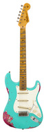 Custom Shop LTD 1957 Stratocaster Heavy Relic Seafoam Green over Pink Paisley