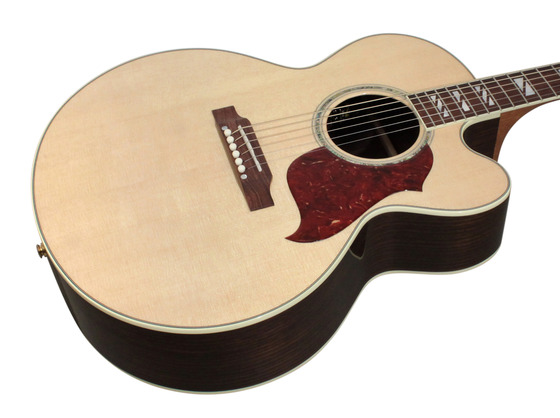 gibson j 185 ec acoustic electric rosewood antique natural rainbow guitars. Black Bedroom Furniture Sets. Home Design Ideas