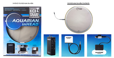 Aquarian Inhead Kick Snare Electro-Acoustic Trigger Bundle