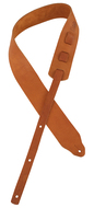 "Longhollow Leather 2.5"" Tan Latigo Leather Guitar Strap"