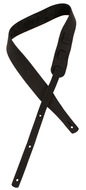 "Longhollow Leather 2"" Black Latigo Leather Guitar Strap"