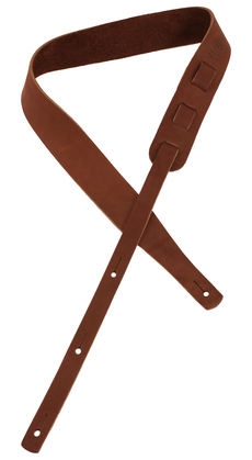 "Longhollow Leather 2"" Brown Latigo Leather Guitar Strap"