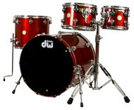 Pre-Owned DW Collectors Series 4pc Shell Pack Blood Red Sparkle Order # 674756