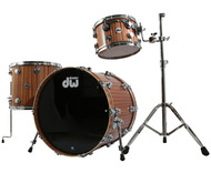 DW Collectors Series Maple Mahogany 3pc Shell Pack in Natural Satin Oil Finish
