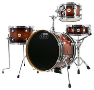DW Design Series Mini-Pro 4pc Shell Pack in Tobacco Burst Lacquer