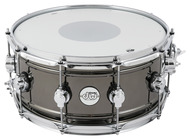 DW Design Series 6.5x14 Snare Drum in Black Nickel Over Brass