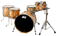 Pre-Owned DW Collectors Series4pc Birch Twisted Outer Natural Lacquer Order# 769185