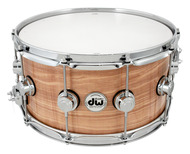 DW Collectors Series Exotic 7x14 Figured Olive Ash Snare with Chrome Hardware