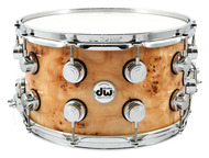 DW Exotic 8x14 Snare Drum in Mapa Burl