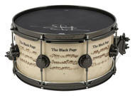 DW Icon Snare 6.5 x 14 Terry Bozio The Black Page Snare Drum