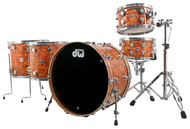 DW Collectors Series 5pc Maple / Mahogany Shell Pack in Amber Swirl