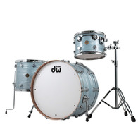 DW Collectors Series 3pc Shell Pack Cherry / Gum Wood Shells In Pale Oyster Blue