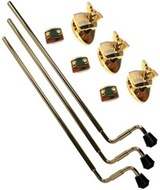DW Floor Tom Legs With TB12S Brackets Set Of 3 Gold