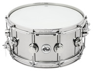 DW Collectors Series 6.5x14 Stainless Steel Snare Drum
