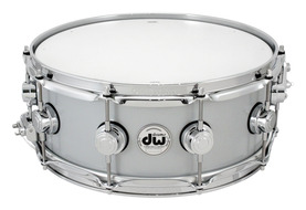 DW Rolled Aluminum 5.5x14 Snare With Chrome Hardware
