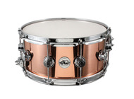 DW 6.5 x 14 Polished Copper Snare With Chrome Hardware