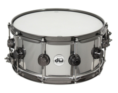 Pre-Owned DW 6.5 X 14 Black Ti - Titanium Snare Drum With Black Nickel Hardware
