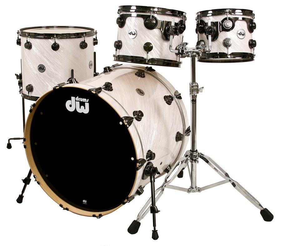 White Drum Set White dw Drum Set