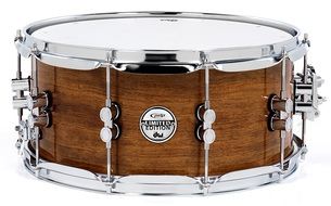 Pacific Limited Bubinga Maple Bubinga Snare With Chrome Hardware