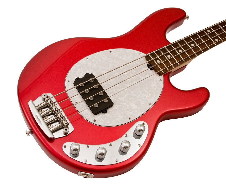 music man limited edition stingray candy red electric bass guitar rainbow guitars. Black Bedroom Furniture Sets. Home Design Ideas