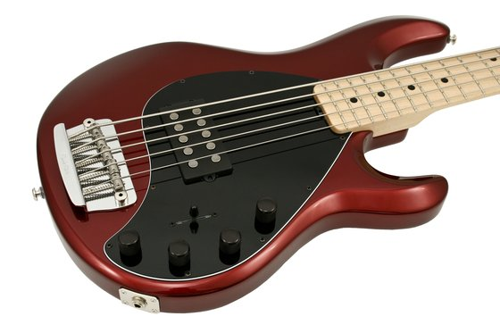 music man stingray 5 candy red electric bass guitar rainbow guitars. Black Bedroom Furniture Sets. Home Design Ideas