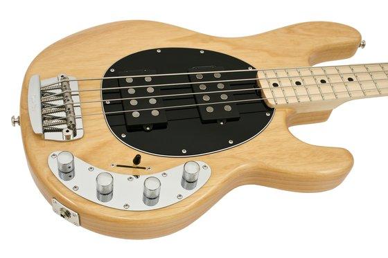 music man stingray hh natural electric bass guitar rainbow guitars. Black Bedroom Furniture Sets. Home Design Ideas