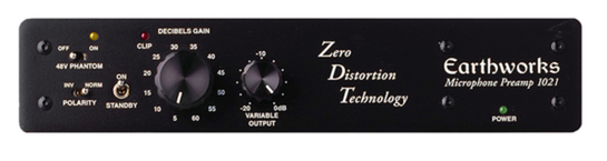 Earthworks 1021 Single Channel<BR>Microphone Preamp