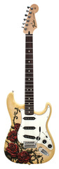 Fender Special Edition David Lozeau Art Stratocaster Rose Tattoo