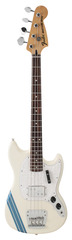 Fender Pawn Shop Mustang Bass Olympic White with Stripe