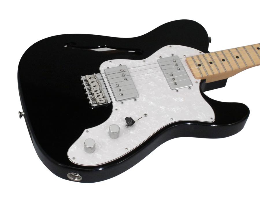fender american vintage 72 telecaster thinline black rainbow guitars. Black Bedroom Furniture Sets. Home Design Ideas