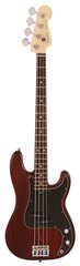 Fender FSR American Standard Hand-Stained Ash Precision Bass Wine Red