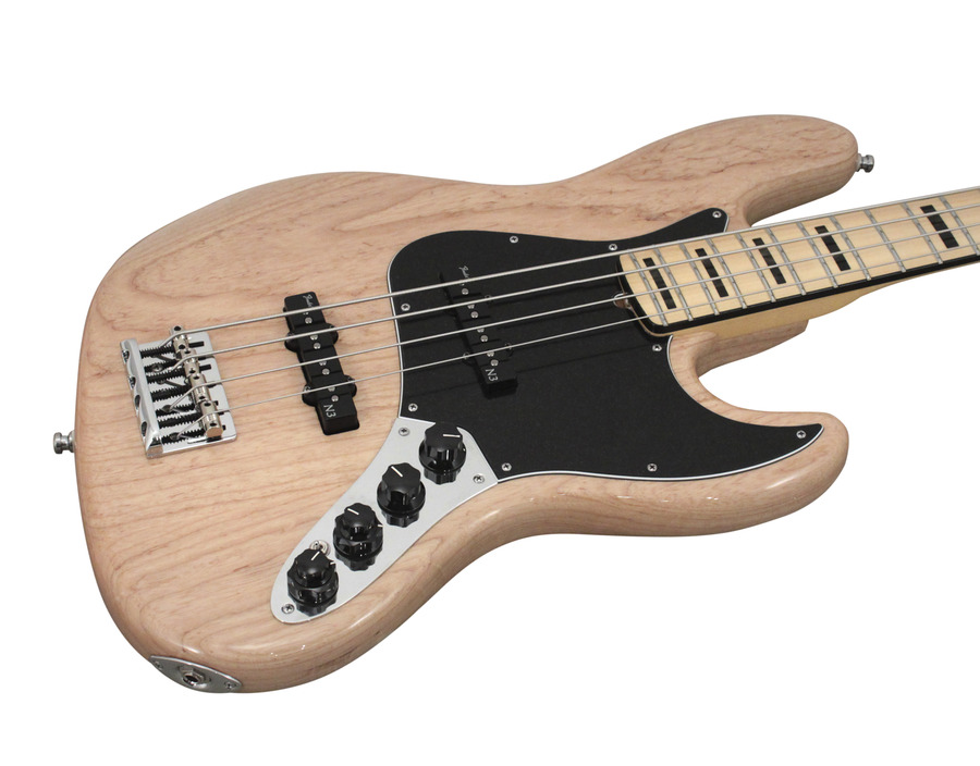 fender american deluxe jazz bass natural ash rainbow guitars. Black Bedroom Furniture Sets. Home Design Ideas