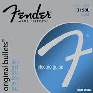Fender 3150L Pure Nickel <BR>Bullet End Electric Guitar Strings<BR>9-42