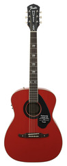 Fender Tim Armstrong Hellcat Acoustic Ruby Red