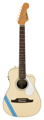Fender Malibu CE Mustang Acoustic Electric Olympic White