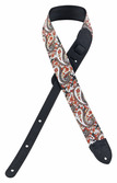 "Fender 2"" Red Paisley Guitar Strap"