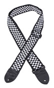 "Fender 2"" Nylon Checkerboard Black / White Guitar Strap"