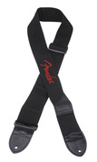 "Fender 2"" Black Poly Strap Red Fender Logo"