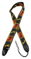 Fender Monogrammed Guitar Strap Black/Yellow/Red