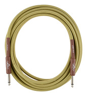 Fender Custom Shop 18.6 foot Instrument Cable Tweed Guaranteed for Life