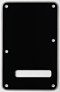 Fender Backplate, Stratocaster, Black, 3 Ply