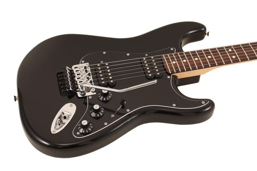 fender electric guitar blacktop stratocaster hh floyd rose black rainbow guitars. Black Bedroom Furniture Sets. Home Design Ideas
